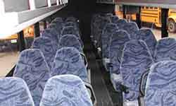32 Passenger Interior Parkinson Coach Lines serving toronto brampton ontario