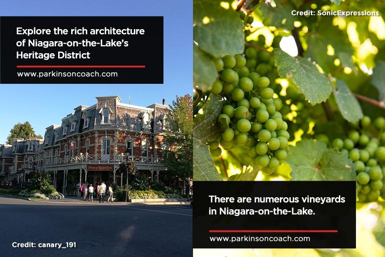 Explore the rich architecture of Niagara on the Lake's Heritage District