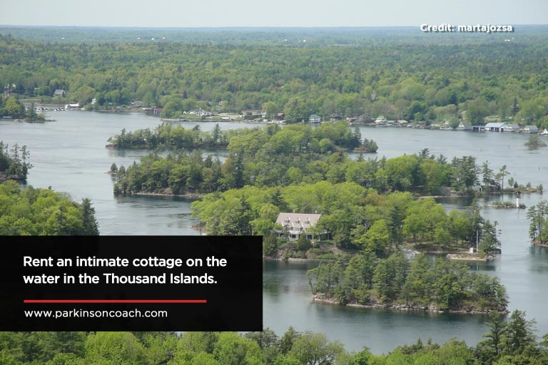 Rent an intimate cottage on the water in the Thousand Islands.