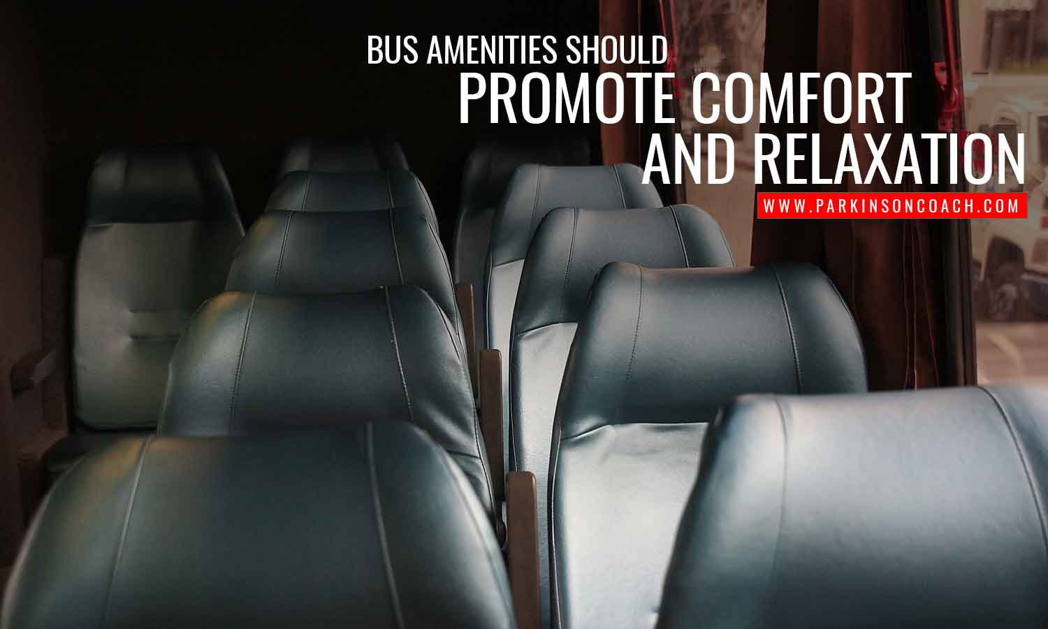 Bus amenities should promote comfort and relaxation