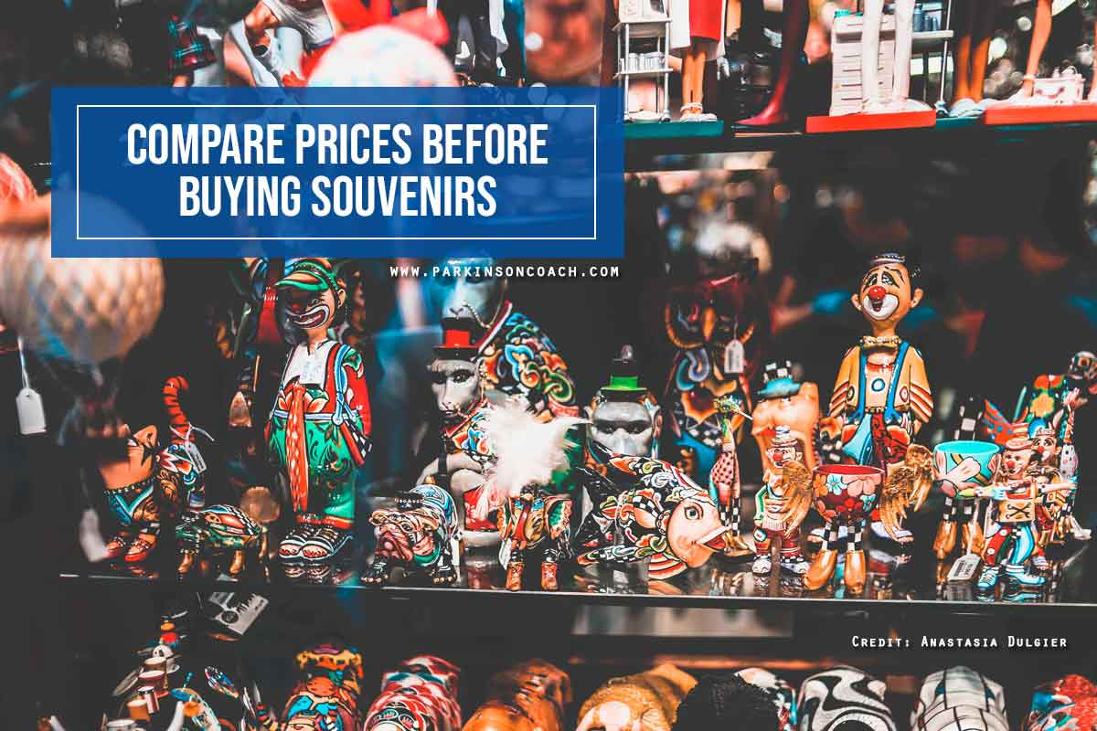 Compare prices before buying souvenirs