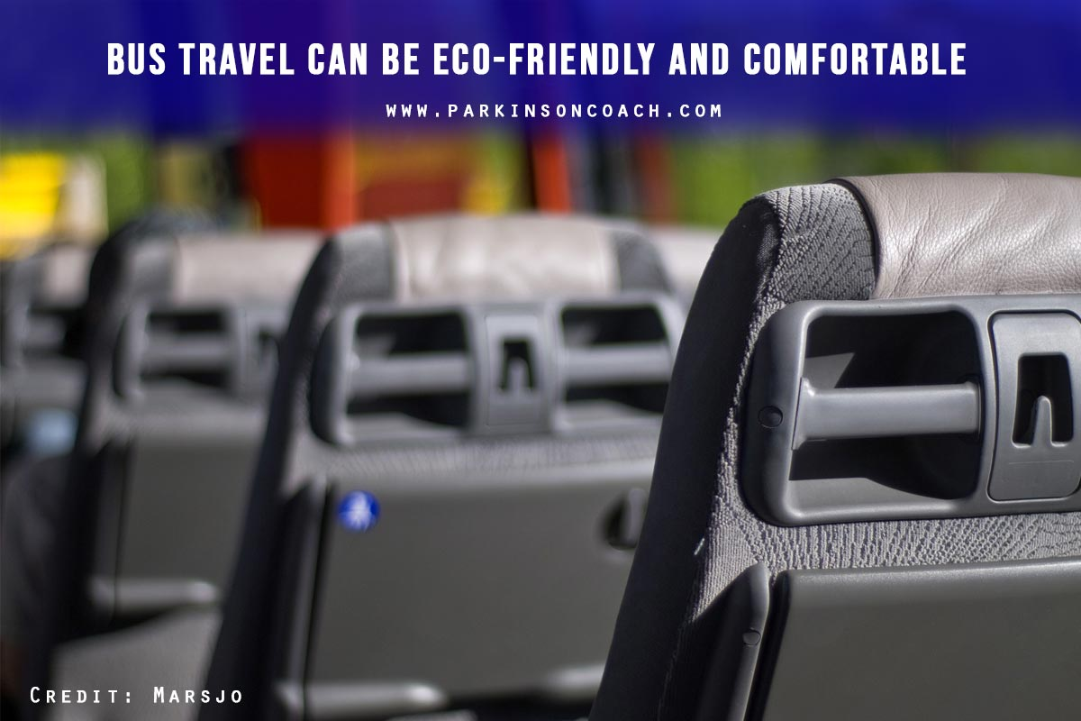 Bus travel can be eco-friendly and comfortable