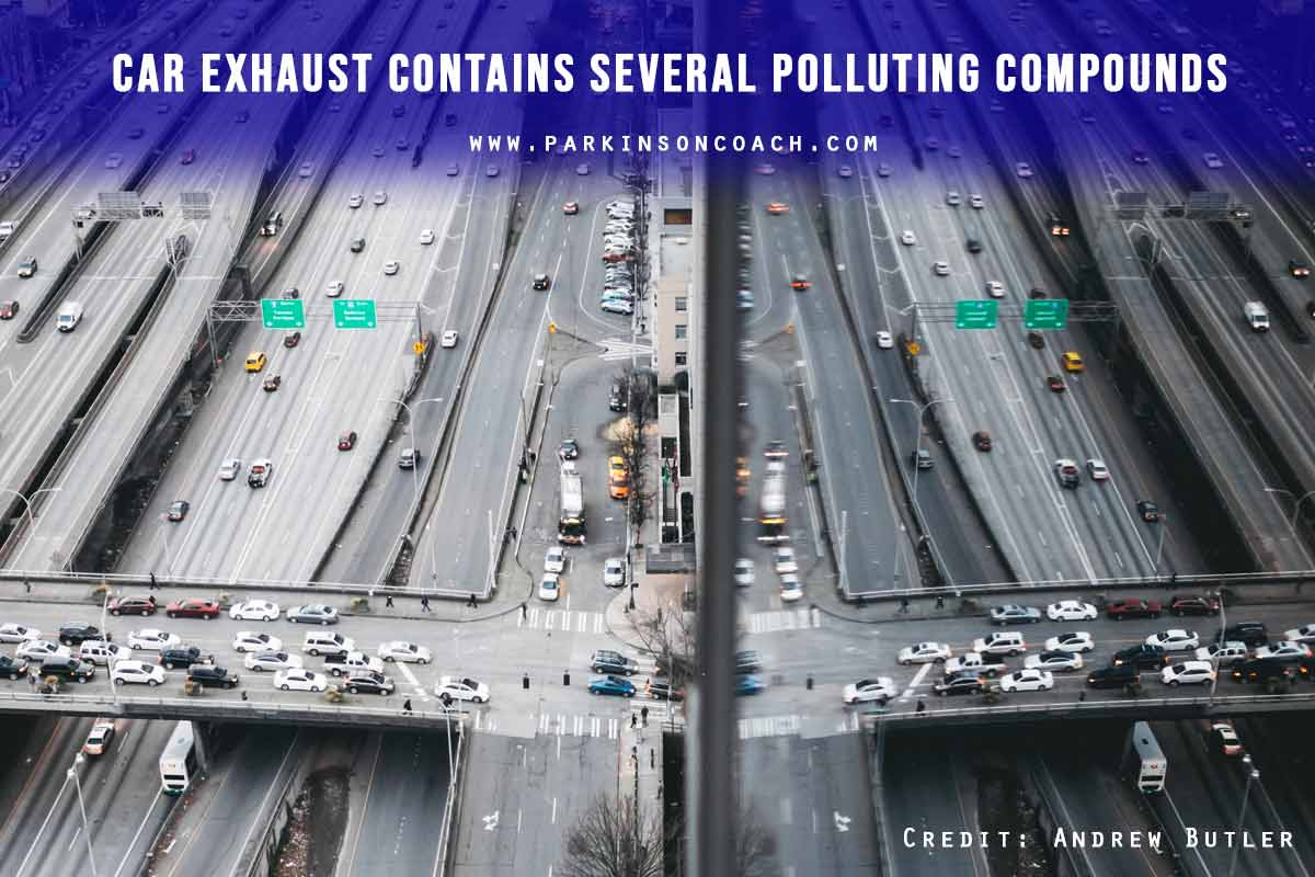 Car exhaust contains several polluting compounds