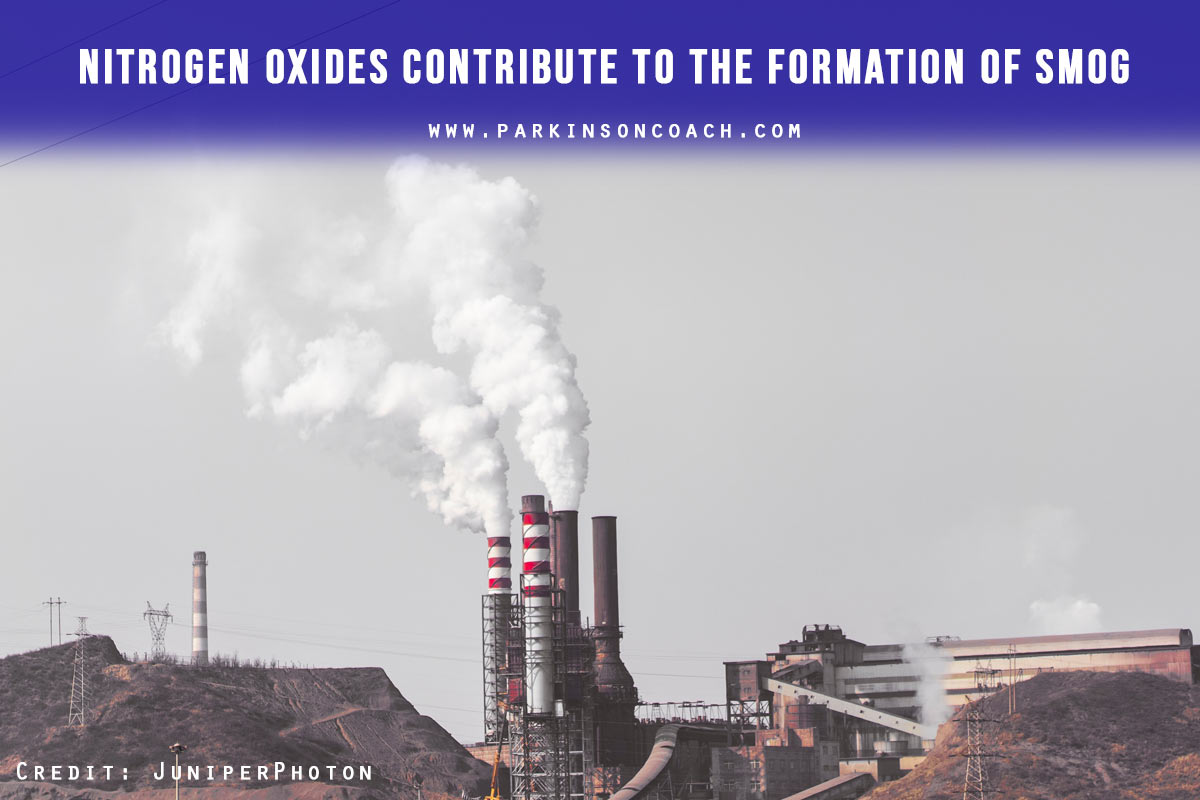 Nitrogen oxides contribute to the formation of smog