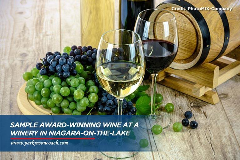 sample award winning wine